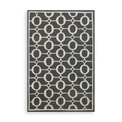 Trans-Ocean Arabesque 2-Foot x 8-Foot Rug in Midnight