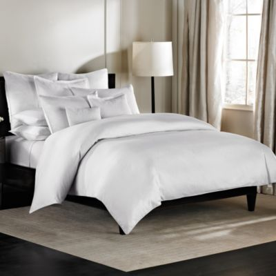 Barbara Barry Dream Aurora Ombre Twin Duvet Cover in Pure White