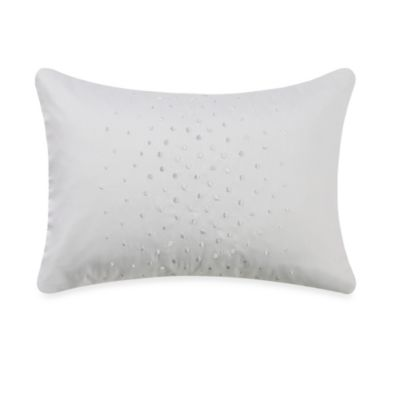 Barbara Barry Dream Aurora Ombre Breakfast Throw Pillow in Pure White