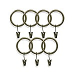 Preston Antique Brass Clip Rings (Set of 7)