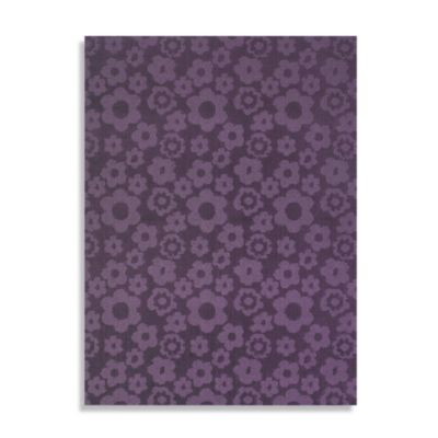 Garland Flowers 7-Foot 6-Inch x 9-Foot 6-Inch Rug in Purple