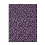 Garland Flowers Rug in Purple