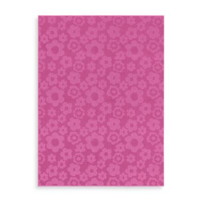 Garland Flowers 5-Foot x 7-Foot Indoor Rug in Pink