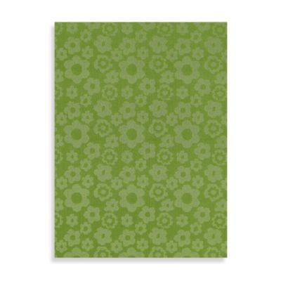 Garland Flowers 5-Foot x 7-Foot Rug in Lime