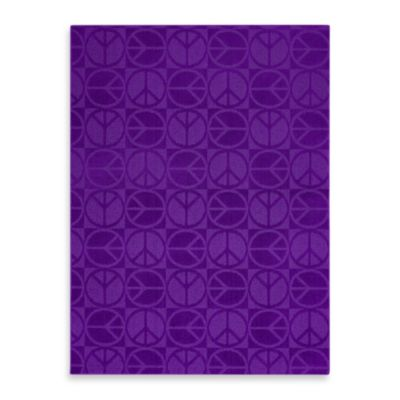 Garland Large Peace 5-Foot x 7-Foot Rug in Purple