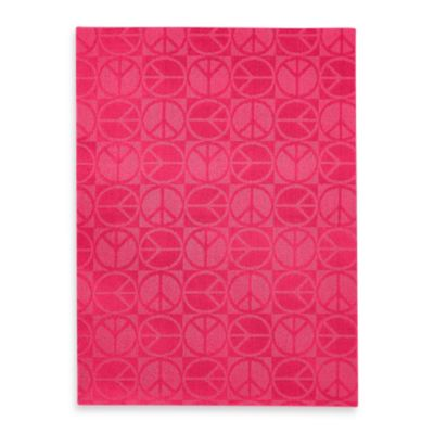 Garland Large Peace 5-Foot x 7-Foot Rug in Pink