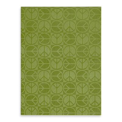 Garland Large Peace 5-Foot x 7-Foot Rug in Lime