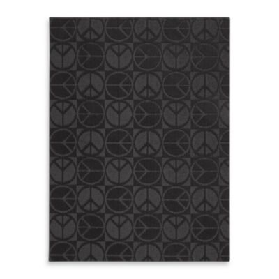 Garland Large Peace 5-Foot x 7-Foot Rug in Black