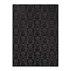 Garland Skulls Rug in Black