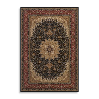 Couristan® Royal Kashan 3-Foot 11-Inch x 5-Foot 3-Inch Rug - Black