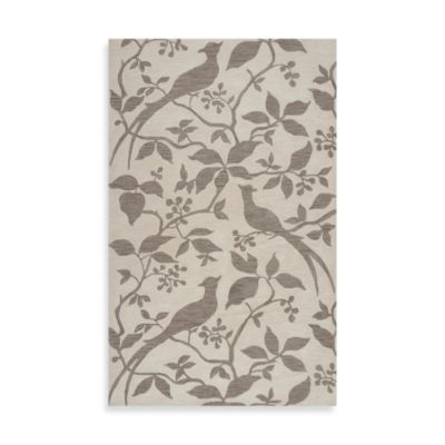 angelo:HOME Impressions Taupe 2-Foot 6-Inch x 8-Foot Rug