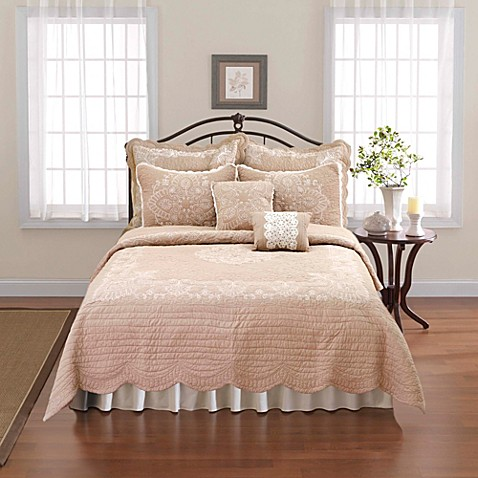 Nostalgia Home™ Nicola Twin Quilt in Taupe