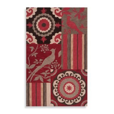 Surya angelo:HOME Impressions Rug in Red/Brown