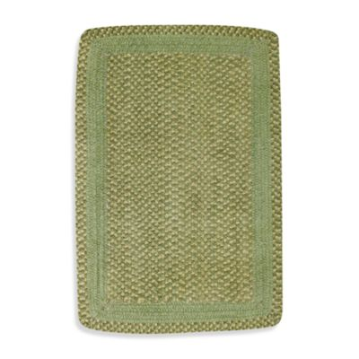 Capel Millwood Braided Rug in Leaf Green