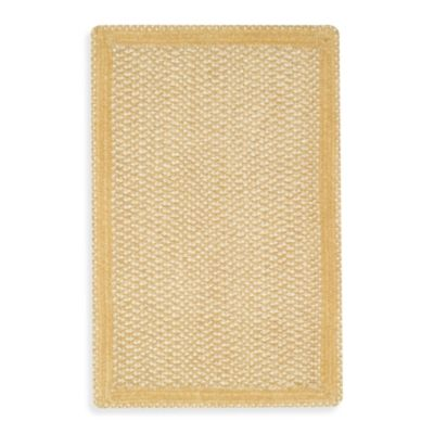 Capel Rugs Millwood Braided Rug in Pale Gold