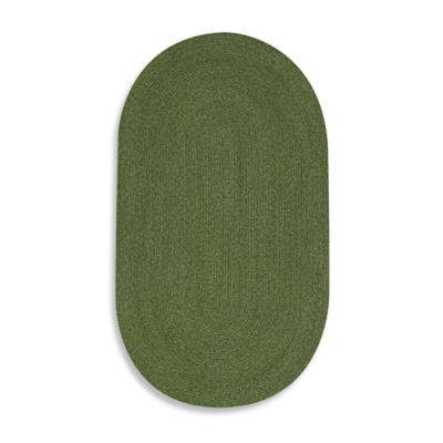 Capel Manteo Braided Rug in Deep Green