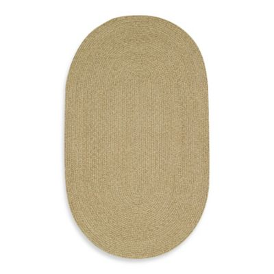 Capel Manteo Oval Indoor Braided Rug in Tan