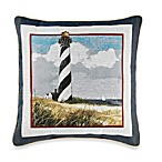 Lighthouse Square Toss Pillow