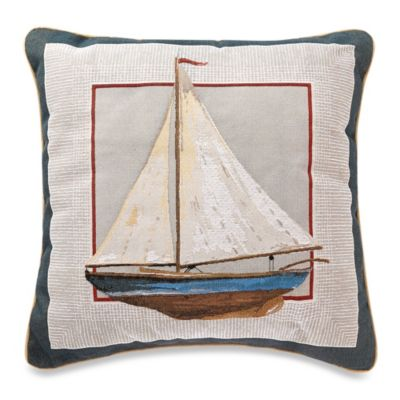 Sailboat Square Toss Pillow
