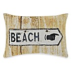 Beach Sign Oblong Toss Pillow