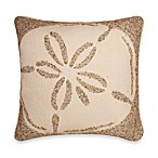 Tropical Sand Dollar Square Toss Pillow