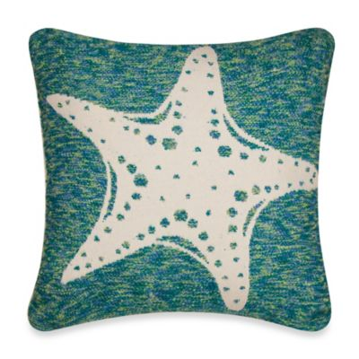 Tropical Starfish Square Toss Pillow