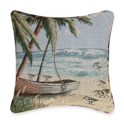 Sandpiper Hideaway Square Toss Pillow