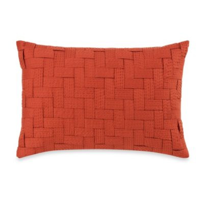 Royal Heritage Home® Pelham Geometric Breakfast Throw Pillow in Orange