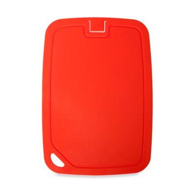 Organic Large Cutting Board in Red