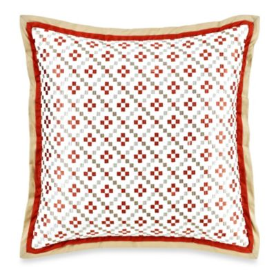 Orange Square Decorative Pillow