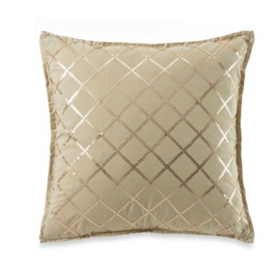 Royal Heritage Home® Pelham Square Throw Pillow in Tan