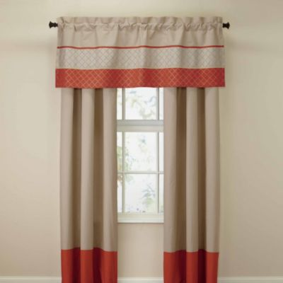 Royal Heritage Home® Pelham Window Valance in Orange