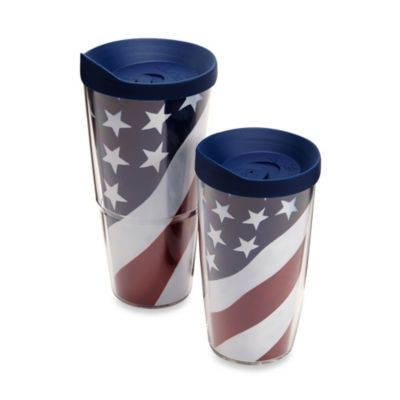 Red White Blue Wrap Tumblers