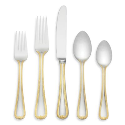 Lenox® Vintage Jewel® Gold Flatware 5-Piece Set