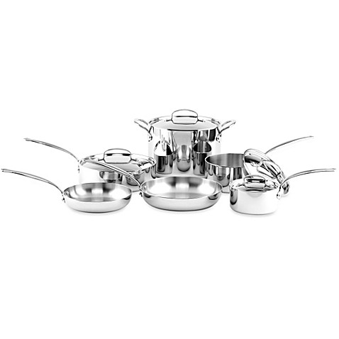 GreenPan™ Barcelona Stainless Steel 10-Piece Cookware Set