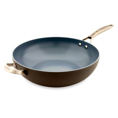 GreenPan Paris Hard Anodized Open 12 1/2-inch Nonstick Wok