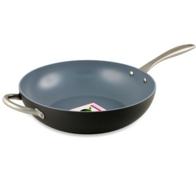 GreenPan Lima Hard Anodized Non-Stick Open 12 1/2-inch Wok