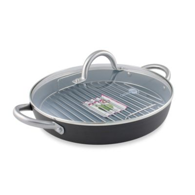 GreenPan Lima Hard Anodized Non-Stick 11-inch Round Grill Pan Set