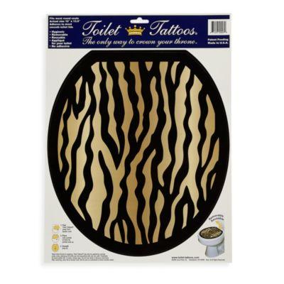 Toilet Tattoos® Zebra in Round