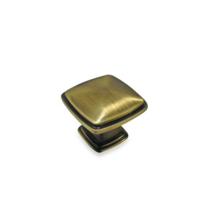 Richelieu 1-1/4-Inch Square Colonial Knob in Oil-Rubbed Bronze