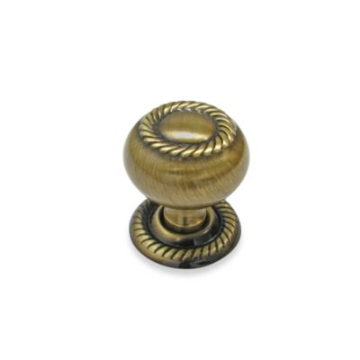 Richelieu Classic Rope-Style Knob in Oil-Rubbed Bronze