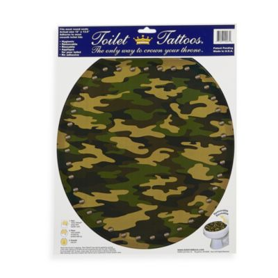 Toilet Tattoos® Army Camo in Round