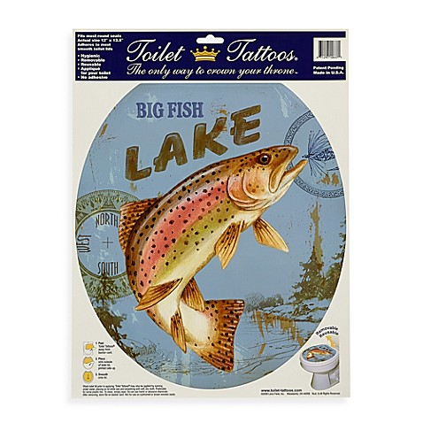 Toilet tattoos lake fish in round for Closest fish store