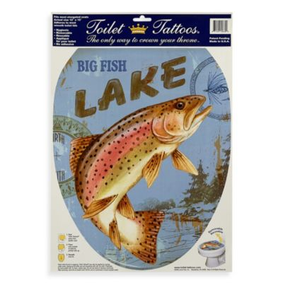 Toilet Tattoos® Lake Fish in Elongated