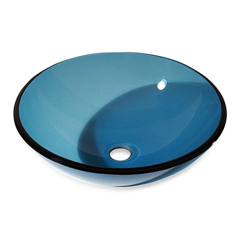 Avanity Tempered Glass Vessel Sink - Blue