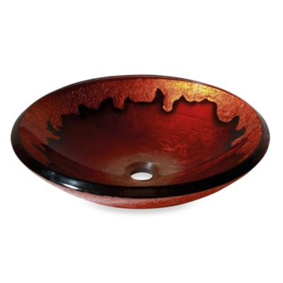 Avanity Tempered Glass Vessel Sink in Gold Lava