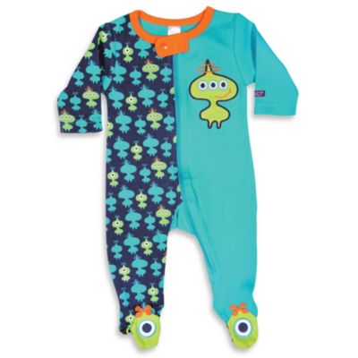Sozo® Lil Green Men Footed Romper - 6-9 Months
