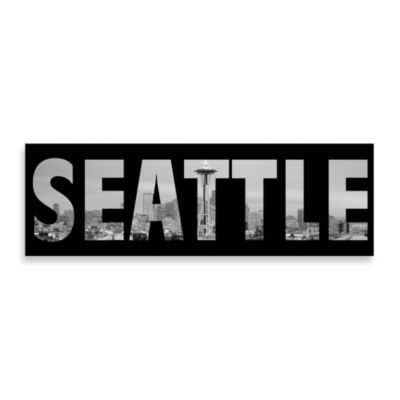 Seattle Black and White Wall Art