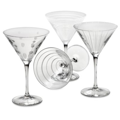 Mikasa® Cheers 10 oz. Martini Glasses (Set of 4)