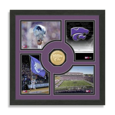 Kansas State Fan Memories Minted Bronze Coin Photo Frame